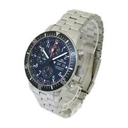 Fortis Automatic Stainless Steel Dress Watch B-42 Silver Black 154937jp Men