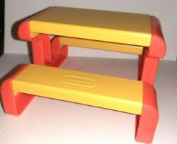Little Tikes Doll House Family Picnic Table Doll Furniture Vintage