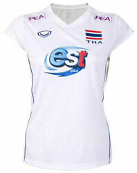 100 Authentic 2021 Thailand National Volleyball Team Jersey Shirt Player White