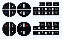 Ecoauto Ac Dash Button Repair Kit For Select Gm Vehicles - Fix Ruined Faded A/c