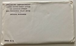 1964 Us Mint Set Sealed In Unopened Envelope,p And D 10 Coins Total