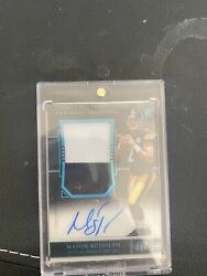 Mason Rudolph 2018 National Treasures Rc Midnight Auto Patch Sp Jersey 2/20🔥🔥