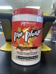 Pre Phase Preworkout Phase1 Nutrition   Free Shipping Exp 4/23 Lemonade Punch