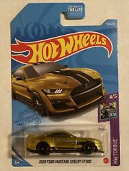 Hot Wheels 2021 Super Treasure Hunt 2020 Ford Mustang Shelby Gt500 G Case Gold