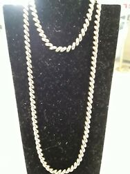 14k Gold Braided 16' Necklace And Matching Bracelet 6 Sold Separately