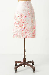 New Nwt Anthropologie Lobster North Coast Skirt 0