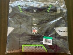 Brand New 2021 Nfl Lano Hill Seattle Seahawks Nike Game Player Edition Jersey