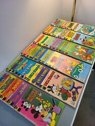 Disney Comic Books Lot Of 34 Whitman Mickey Mouse Donald Duck Bugs Bunny And More