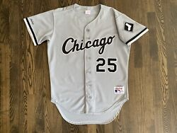Rare Rawlings Authentic Sammy Sosa 25 Chicago White Sox Jersey 44 Large L