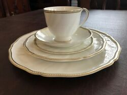 Wedgwood Crown Gold Bone China 5 Piece Place Settings 6 Settings For Price