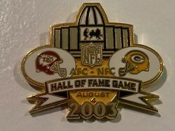 Green Bay Packers Game Day Pin Vs Kansas City Chiefs August 4 2003 08/04/03 Hof