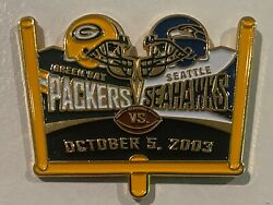 Green Bay Packers Game Day Pin Vs Seattle Seahawks October 5 2003 10/05/03