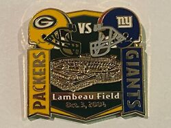 Green Bay Packers Game Day Pin Vs New York Giants Nyg October 3 2004 10/03/04