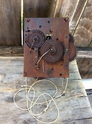 Large American Wooden Works Shelf Clock Movement, W/ Alarm Feature..groaner