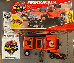 M.a.s.k. Mask Firecracker With Hondo Maclean And Box 100 Complete 1985 Kenner