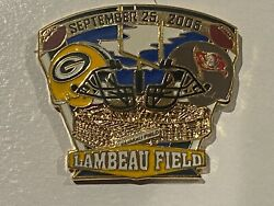 Green Bay Packers Game Day Pin V Tampa Bay Buccaneers September 25 2005 09/25/05