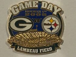 Green Bay Packers Game Day Pin Vs Pittsburgh Stealers November 6 2005 11/06/05
