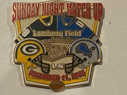 Green Bay Packers Game Day Pin V Detroit Lions December 11 2005 12/11/05 Lambeau