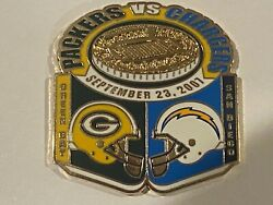 Green Bay Packers Game Day Pin Vs San Diego Chargers September 23 2007 09/23/07