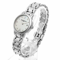Baume And Mercier Classima Lady M0a10490 Stainless Steel Ss Shell Dial Quartz