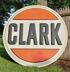 Vintage Clark Gas Station Large Advertising Sign 6ft Nice-looking Rare