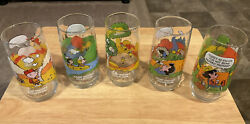 Vintage Set Of 5 + 1 Camp Snoopy 1983 Mcdonalds Limited Edition Glasses