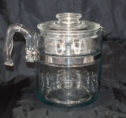 Complete Vintage Pyrex Glass Coffee Pot Stovetop Percolator 7759 9-cup