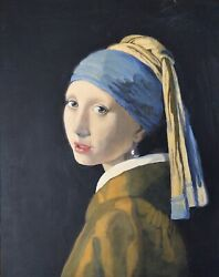 girl With The Pearl Earring After Jan Vermeer By Lynda Manson Old Masters Copy