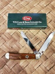 Casexx 7254ss Trapper Wdsm Knife. 133 Wood Handle W/ Texas And Scrolled Bolsters