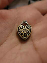 James Avery Verona Lock Bronze Sterling Silver Charm Or Pendant 3d Retired