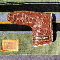 Scotty Cameron Gallery Shop Brown Alligator Gator Putter Head Cover New