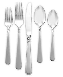 Lenox 265713 Pearl Platinum 5 Piece Place Setting Stainless Steel Flatware