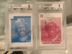 2x Bgs 9 Andre Dawson 6 1984 Ralston Purina Topps Vault Proof 1/1 Blue And Red