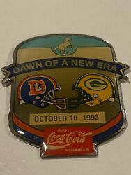 Green Bay Packers Game Day Pin Vs Denver Broncos Coca-cola October 1993 10/10/93