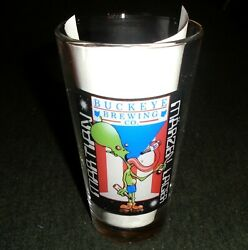 Rare Martian Lager Beer Pint Size Vintage Beer Glass, Buckeye Brewing Company