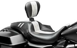 Le Pera Lk-987brgtwdm Outcast Gt Seat With Backrest - White Diamond