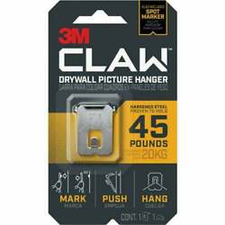 3m Claw 45 Lb. Drywall Picture Hanger With Temporary Spot Marker 4 Pk