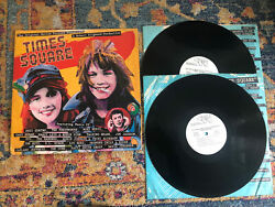 Times Square Orig Motion Soundtrack 2 Lp Rare Wlp Lou Reed Talking Heads Ex