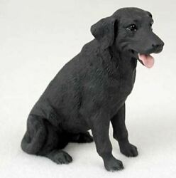 LABRADOR BLACK LAB DOG Figurine Statue Hand Painted Resin Gift Pet Lovers