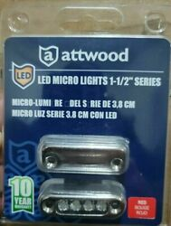 Attwood 6350r7 Led Micro Courtesy Utility Light 1-1/2 Series, Red