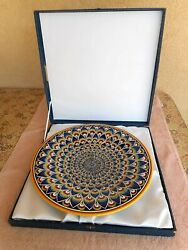 Vintage Deruta Italian Pottery Charger 17 With Presentation Case/ Excellent Wow