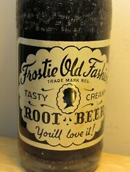 Old Scarce 1960's Frostie Root Beer Soda Full Bottle - Baltimore, Maryland