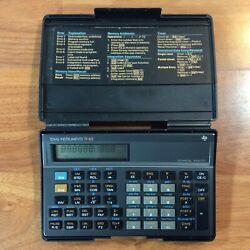 Texas Instruments Ti-65 Technical Analyst Calculator Guidebook W/ Case - Works