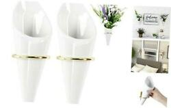 Ceramic Hanging Planter Wall Planters Set of 2 Modern Flower Plant Pots for