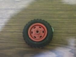 Vintage Wyandotte Truck One Red Wheel And Tire For Parts