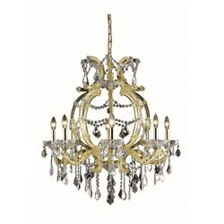 Crystal Chandelier Gold Maria Theresa High Quality Lighting Fixtures 8 Light 32