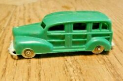 Vintage 1940's Car Toy-banner Toys-woody Station Wagon Truck Plastic Rare Green