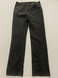Jake Agave 34 X 34 Waterman Relaxed Straight Black Flex Denim Usa Made Jeans
