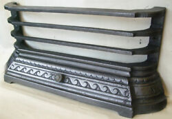Antique Fireplace Spares Original 18 Tiled Inset Front Bars And Ash Pan Cover
