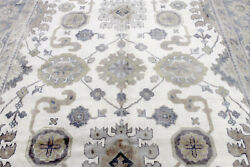 9x12 Magnificent New Hand Knotted Wool Muted Colors Oushak Turkish Oriental Rug